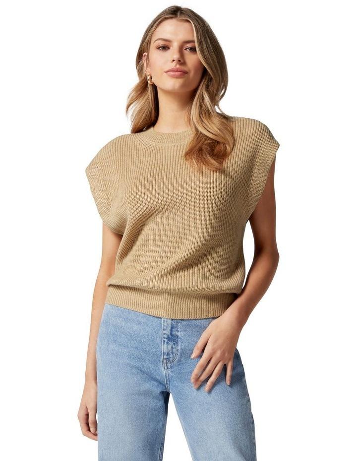 Erin Extended Shoulder Knit Tank image 1