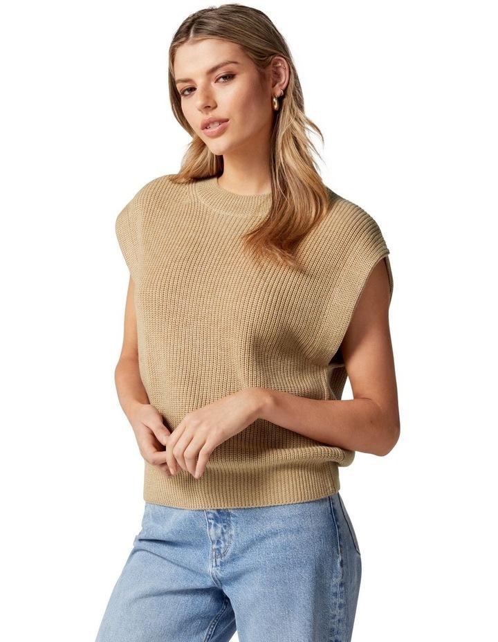 Erin Extended Shoulder Knit Tank image 3