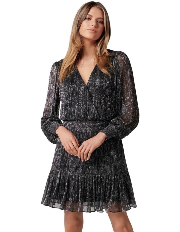 Perla Plisse Flippy Mini Dress image 1