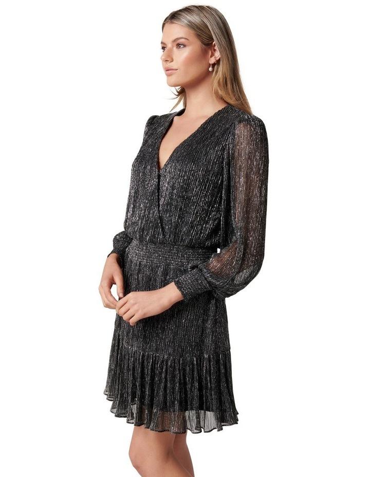 Perla Plisse Flippy Mini Dress image 3