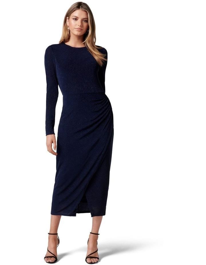Marissa Jersey Ruched Midi Dress image 1