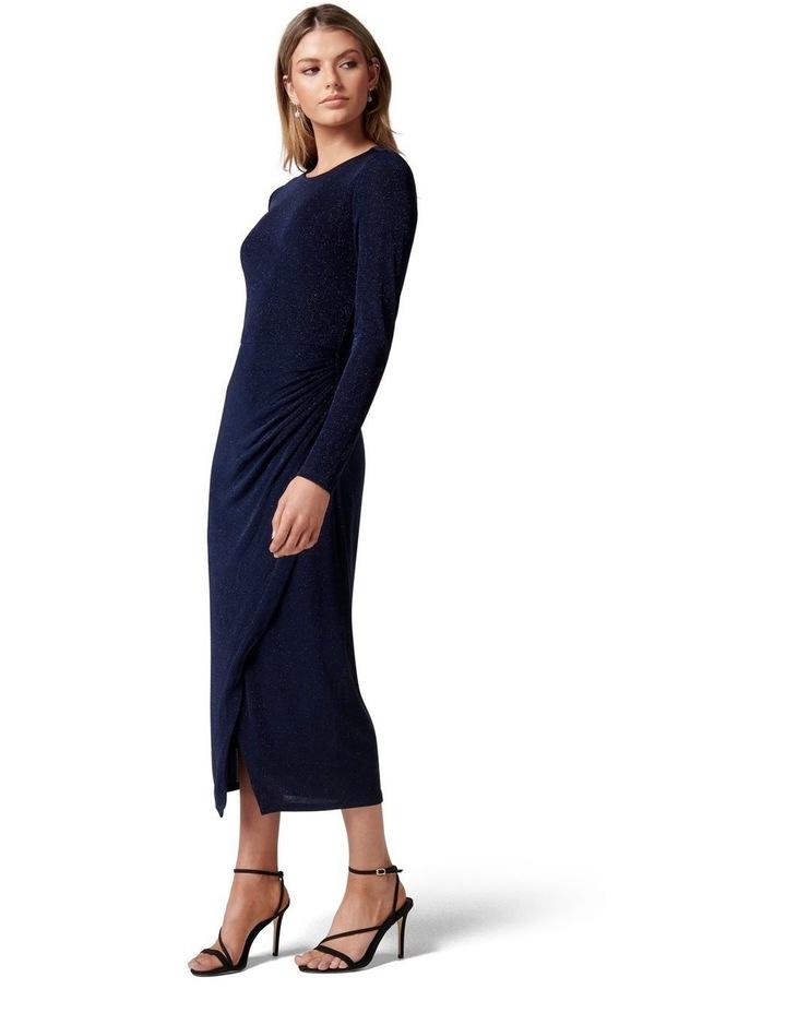 Marissa Jersey Ruched Midi Dress image 3