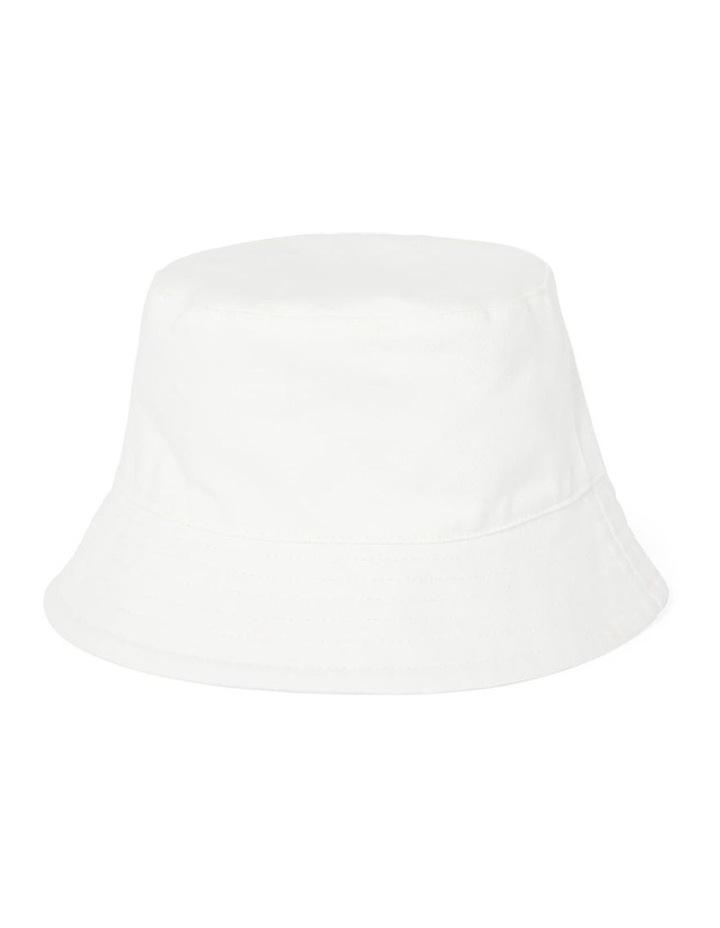 Kaia White Bucket Hat image 1