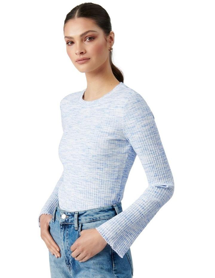 Sofia Flare Sleeve Top Blue Space Dye image 3
