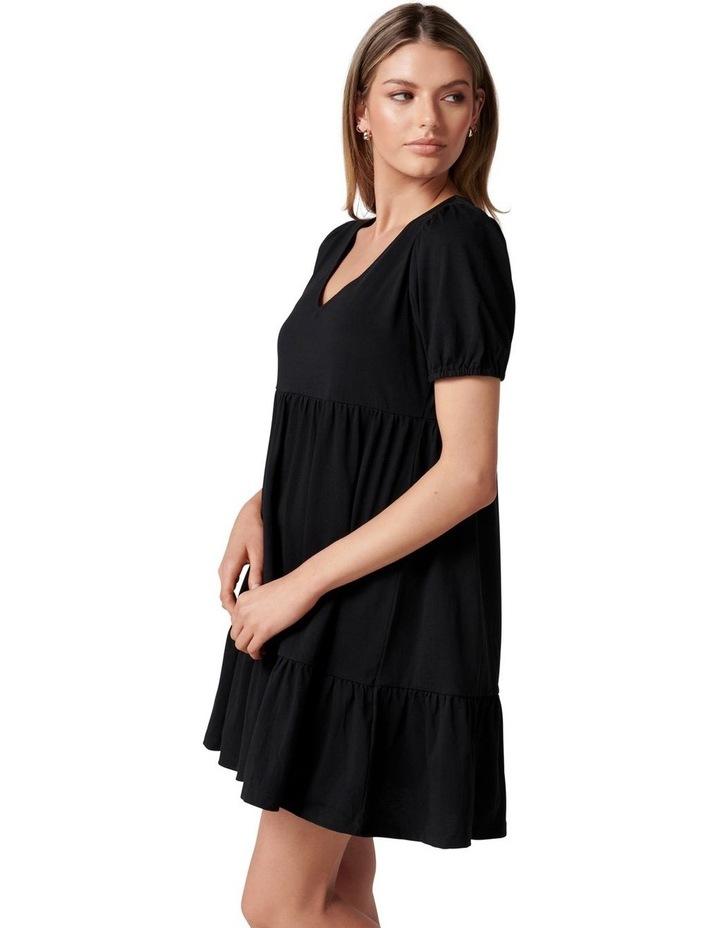 Brooke Mini Jersey Dress Black image 3