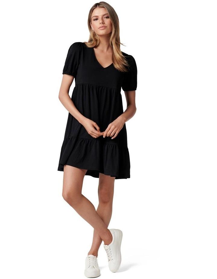 Brooke Mini Jersey Dress Black image 5