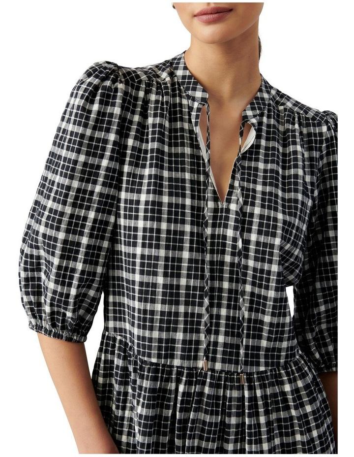 Sadie Check Smock Dress Black & White Gingham image 2