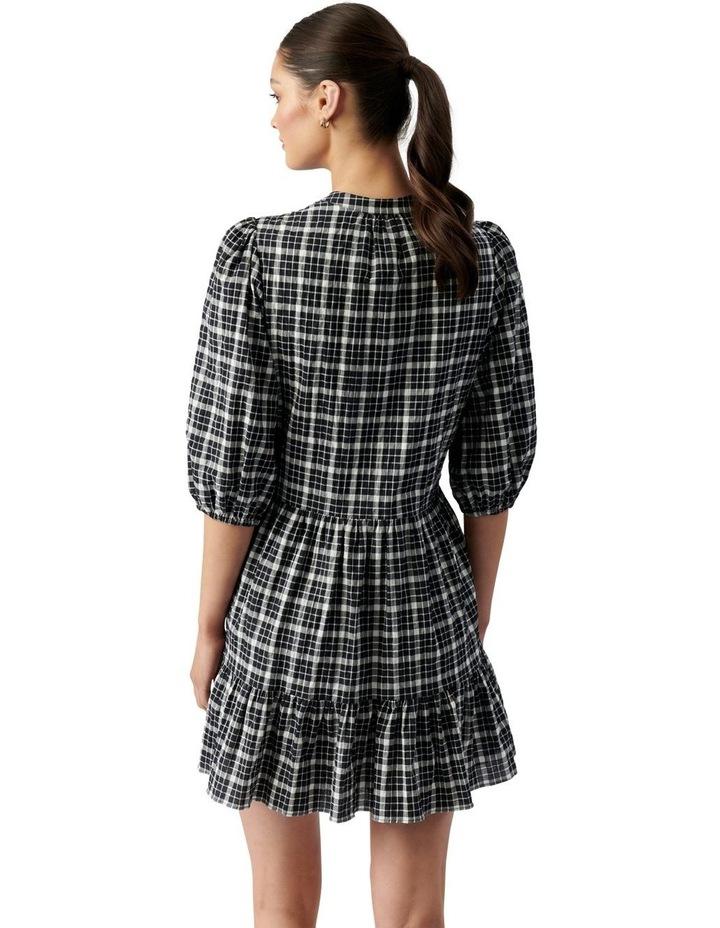 Sadie Check Smock Dress Black & White Gingham image 4