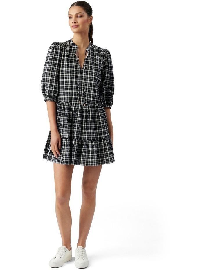 Sadie Check Smock Dress Black & White Gingham image 5