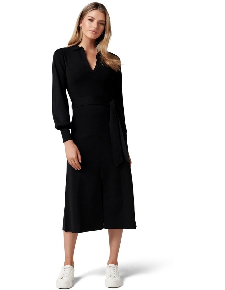 Olivia Fit and Flare Knit Dress image 1