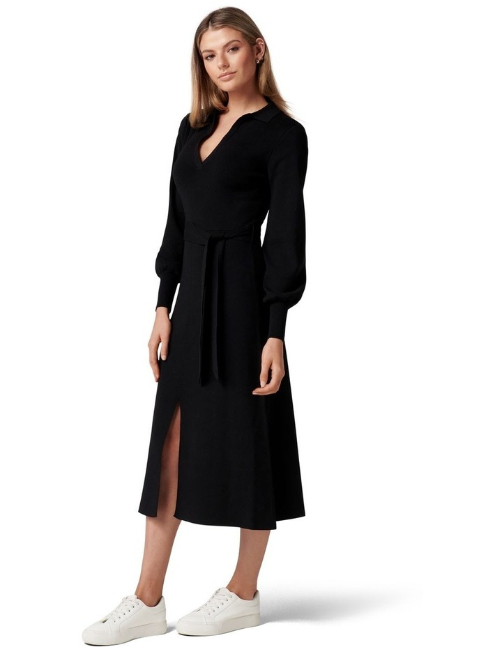 Olivia Fit and Flare Knit Dress image 3