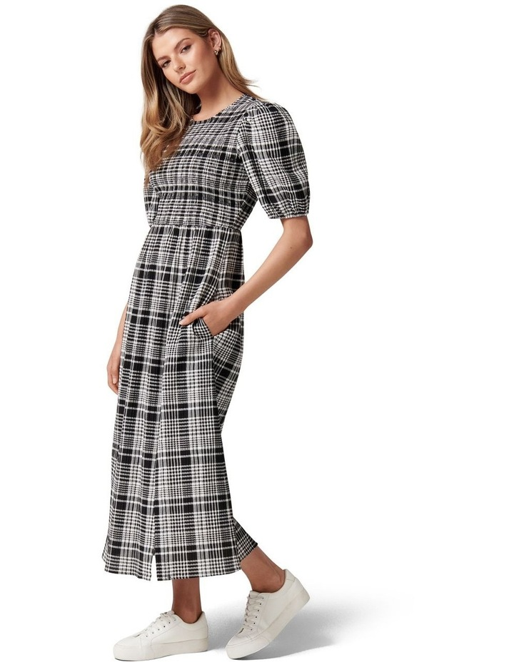 Dakota Check Midi Dress image 3