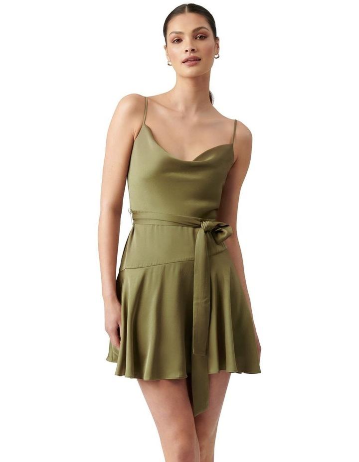 Zephr Cowl Neck Mini Dress Olive image 1