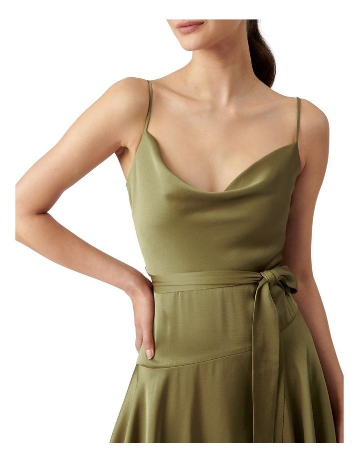 Zephr Cowl Neck Mini Dress Olive image 2
