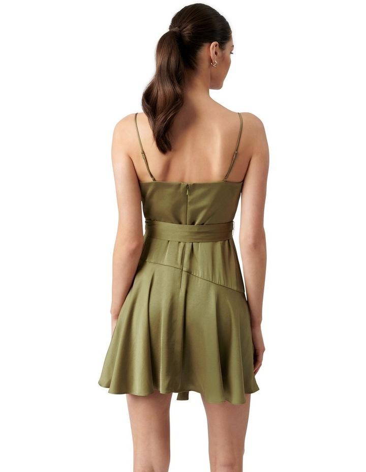 Zephr Cowl Neck Mini Dress Olive image 4