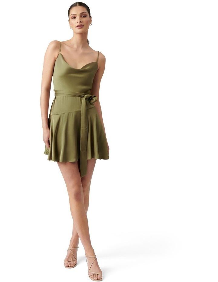 Zephr Cowl Neck Mini Dress Olive image 5