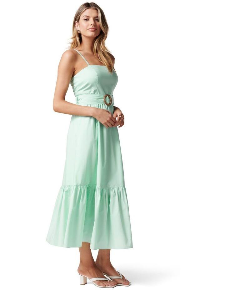 London Tiered Midi Dress Mint Tint image 3