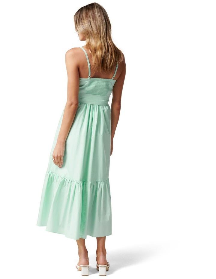 London Tiered Midi Dress Mint Tint image 4