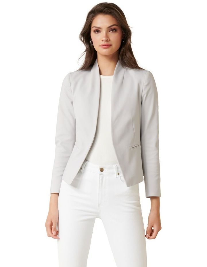Alice Fitted Blazer Dove Grey image 1