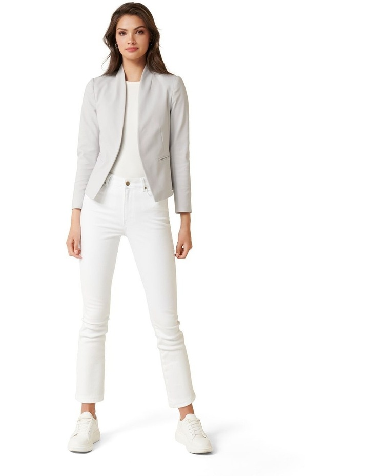 Alice Fitted Blazer Dove Grey image 4