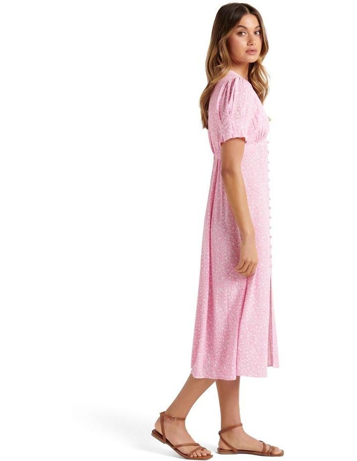 Quinn Petite Button Front Midi Dress Quartz Floral Ditsy image 3