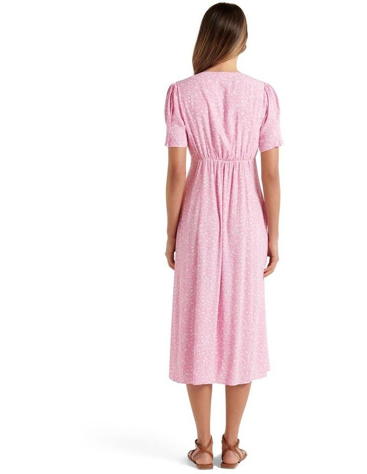 Quinn Petite Button Front Midi Dress Quartz Floral Ditsy image 4