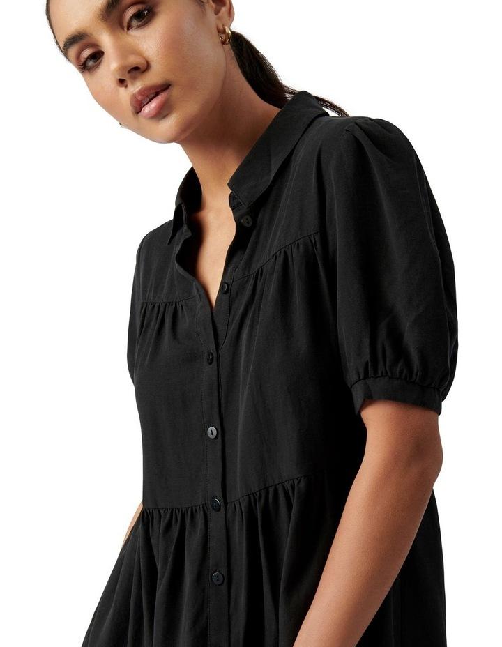 Monica Short Sleeve Tiered Smock Dress Black image 2