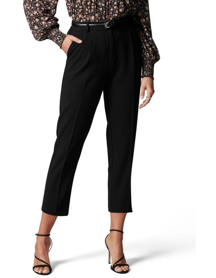 Carmen Petite Belted Tapered Pants Black image 1