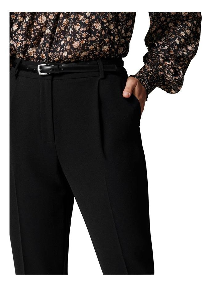 Carmen Petite Belted Tapered Pants Black image 2