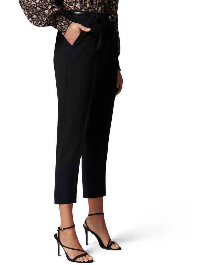 Carmen Petite Belted Tapered Pants Black image 3