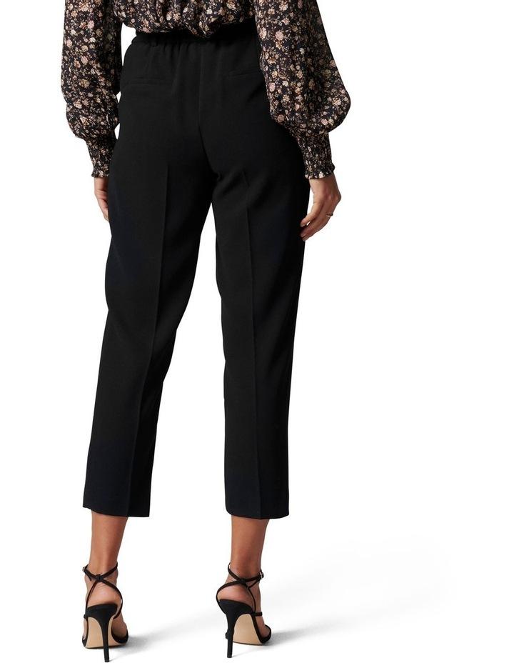Carmen Petite Belted Tapered Pants Black image 4
