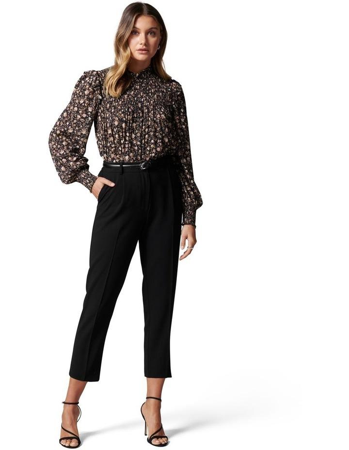 Carmen Petite Belted Tapered Pants Black image 5