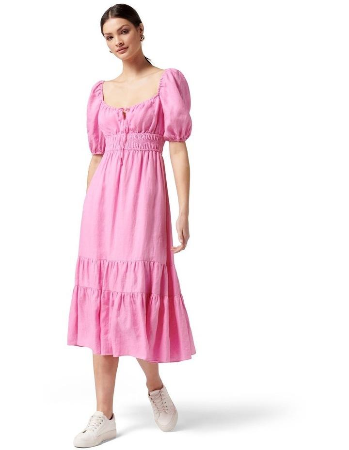 Josephine Tiered Midi Dress Taffy Pink image 1