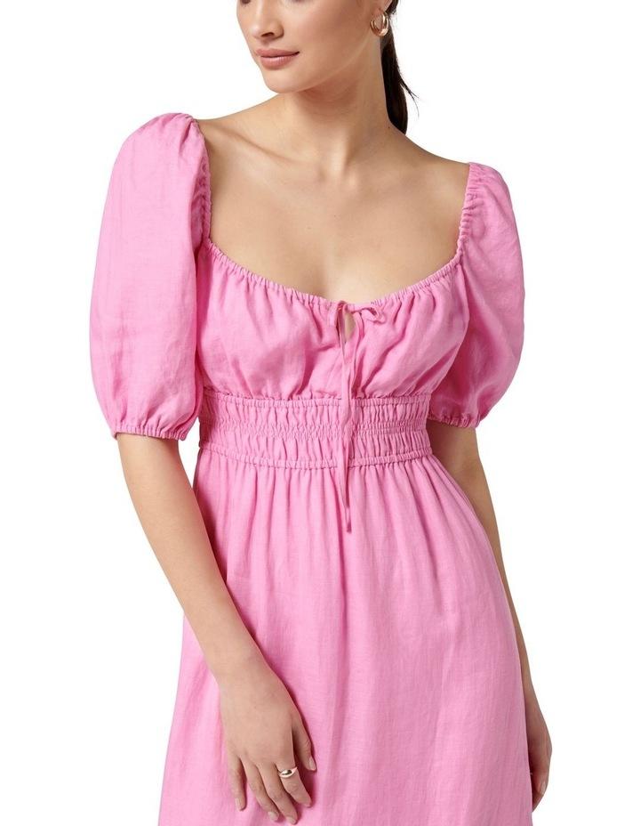 Josephine Tiered Midi Dress Taffy Pink image 2