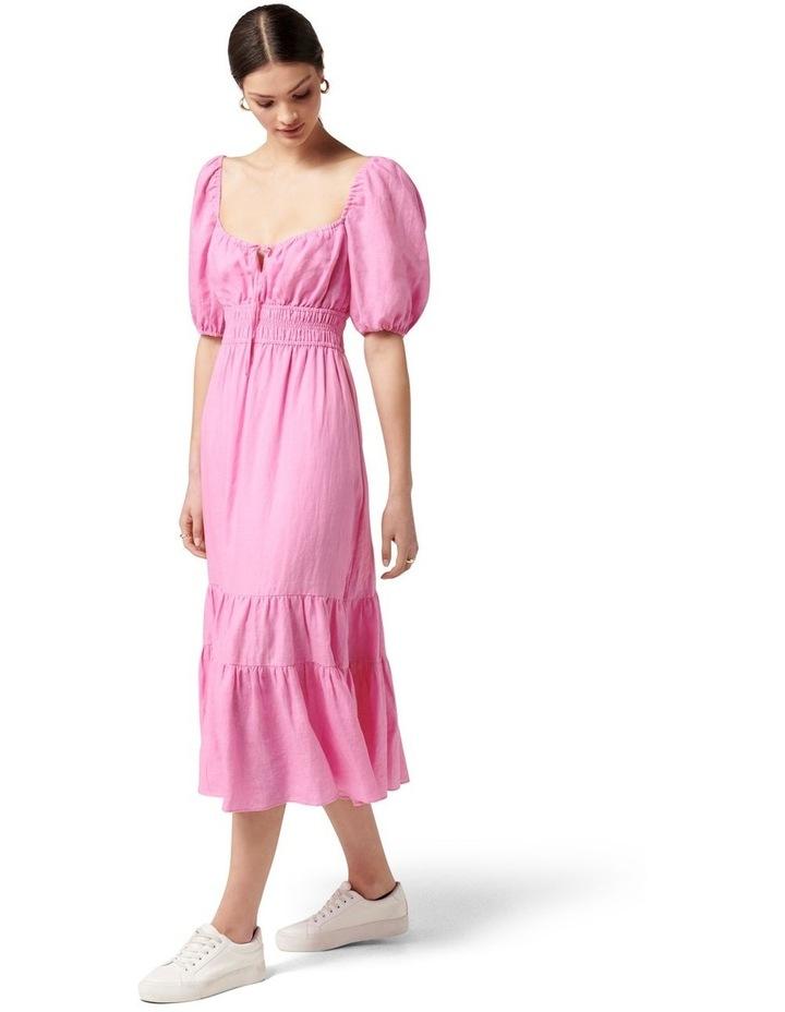Josephine Tiered Midi Dress Taffy Pink image 3