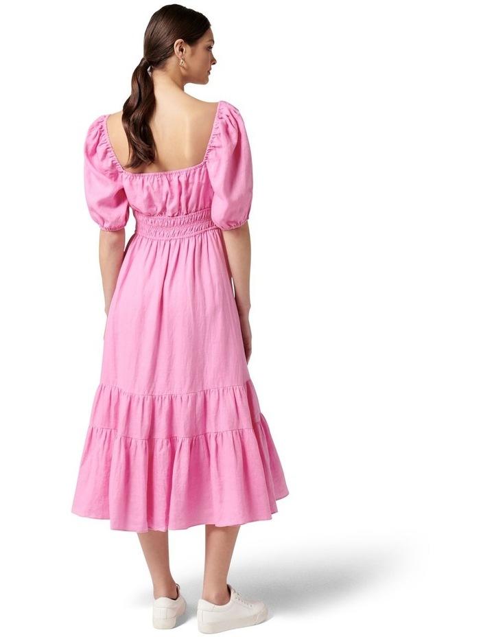 Josephine Tiered Midi Dress Taffy Pink image 4