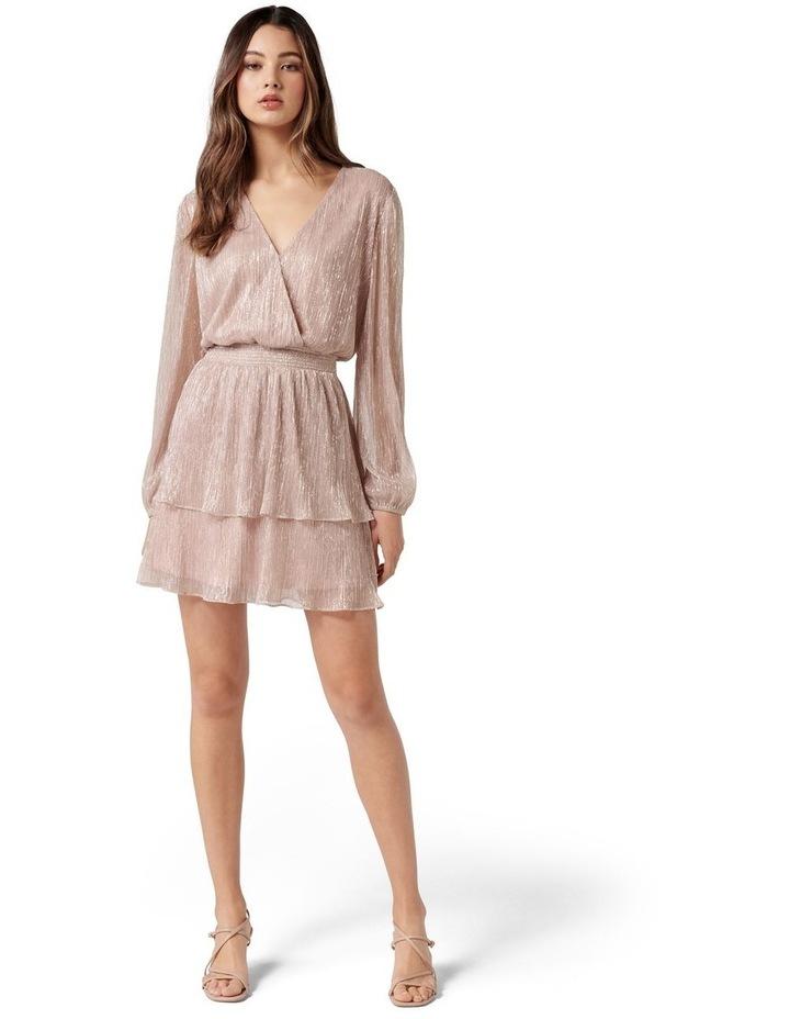 Katie Metallic Plisse Wrap Mini Pink image 5