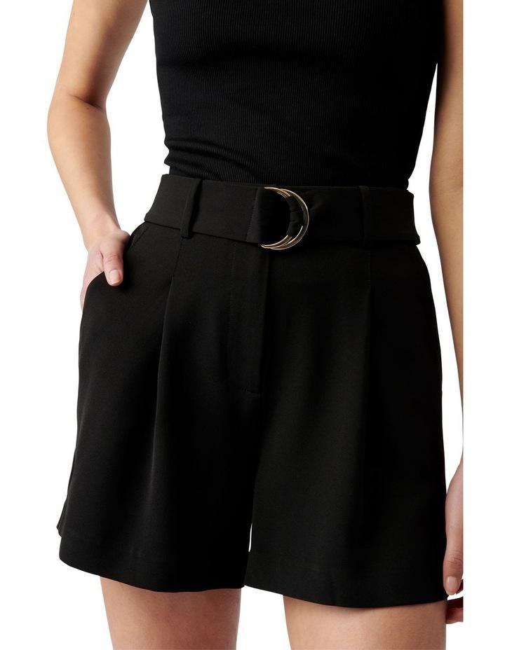 Belinda Belted Suit Shorts Black image 2