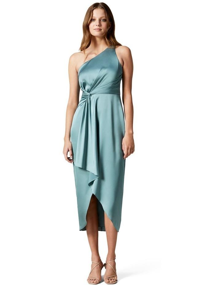 Haidee Petite One Shoulder Midi Dress image 1