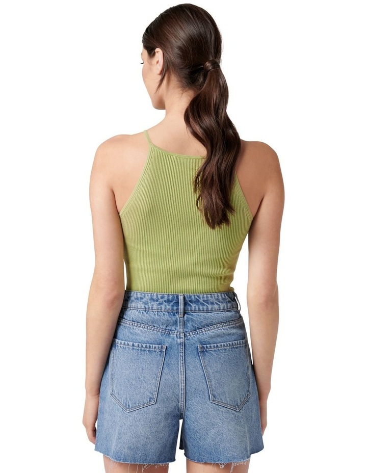 Jade High Square Neck Knit Tank Dusty Chartreuse image 4