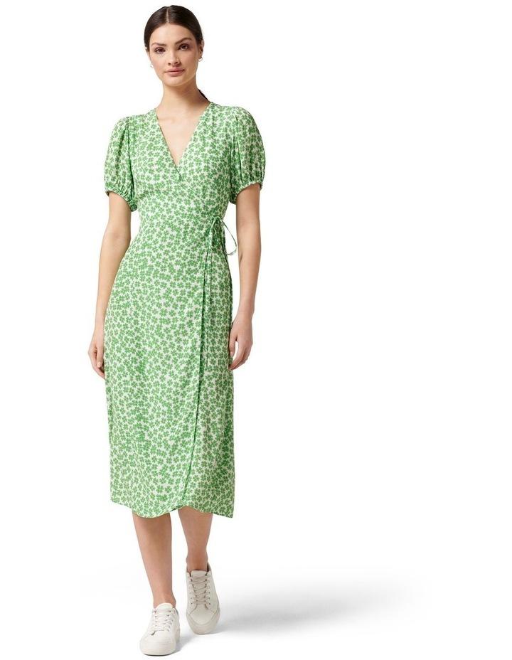 Daisy Wrap Midi Dress Retro Ditsy image 1