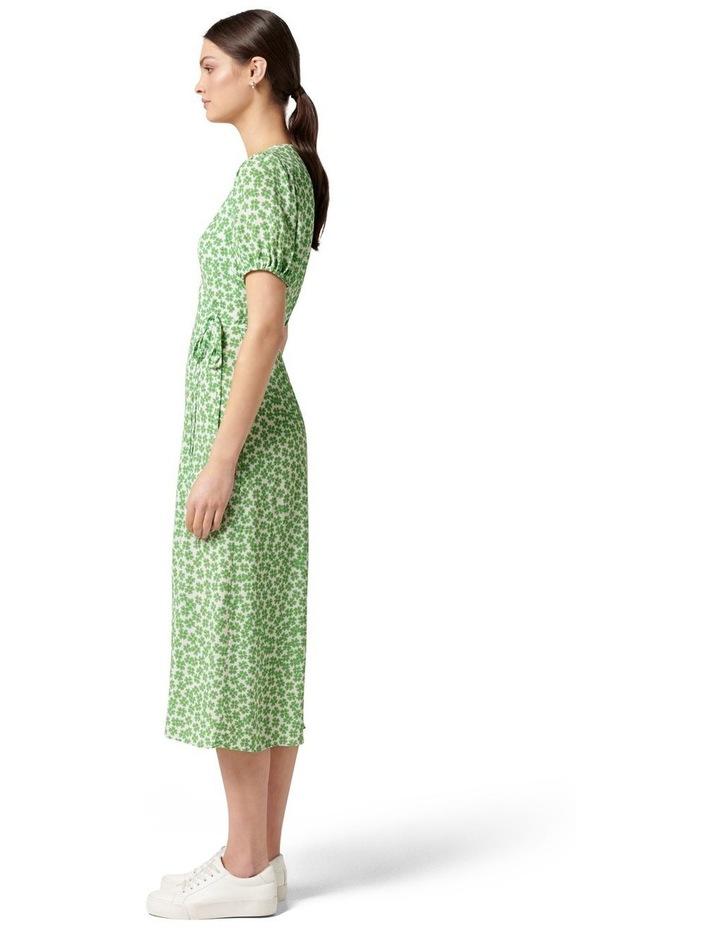 Daisy Wrap Midi Dress Retro Ditsy image 3