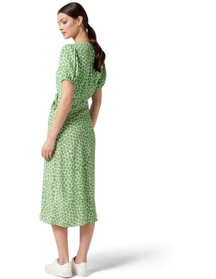 Daisy Wrap Midi Dress Retro Ditsy image 4