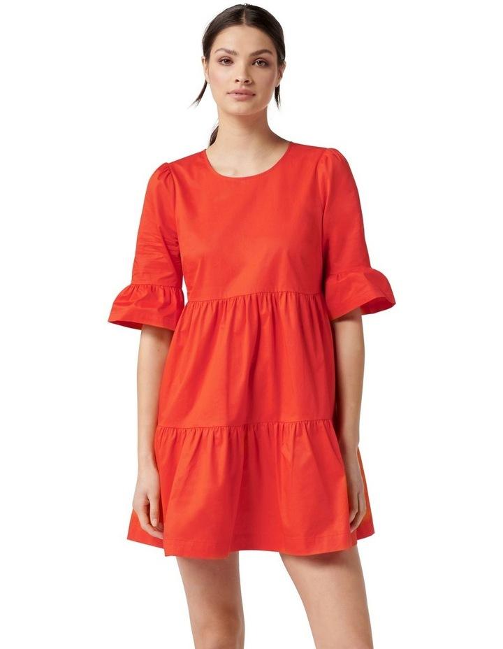 Brydie Cotton Smock Dress Red image 1