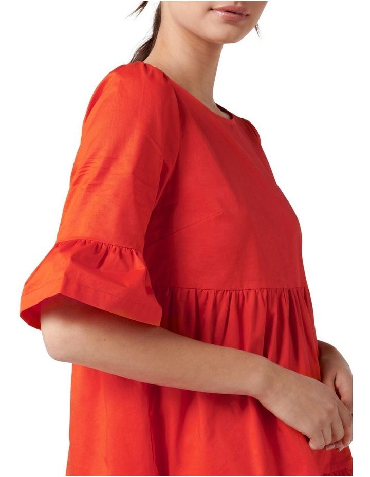Brydie Cotton Smock Dress Red image 2