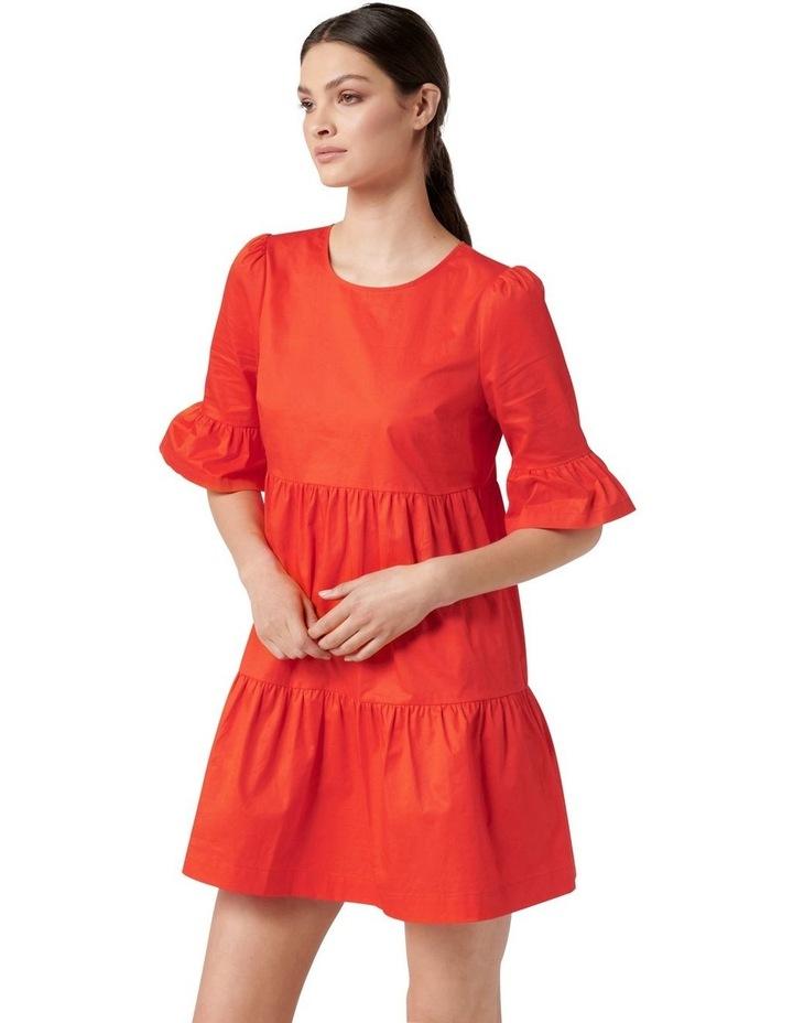 Brydie Cotton Smock Dress Red image 3