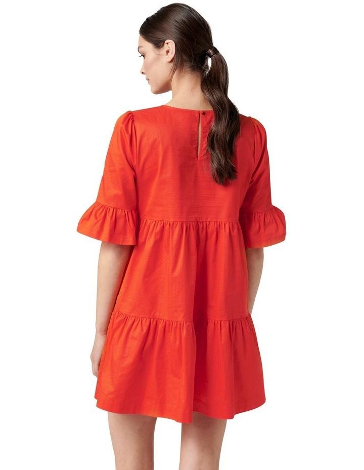 Brydie Cotton Smock Dress Red image 4