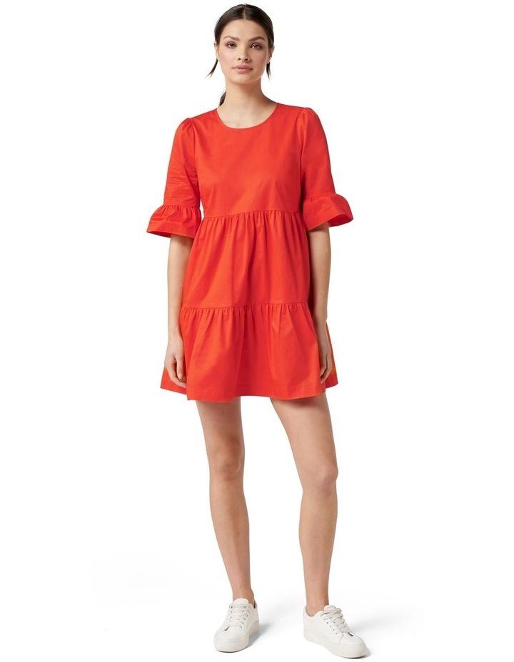 Brydie Cotton Smock Dress Red image 5
