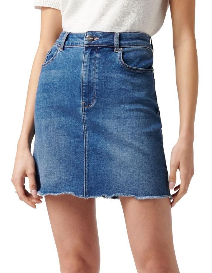 Laura Stretch Denim Mini Skirt Mid Wash image 1