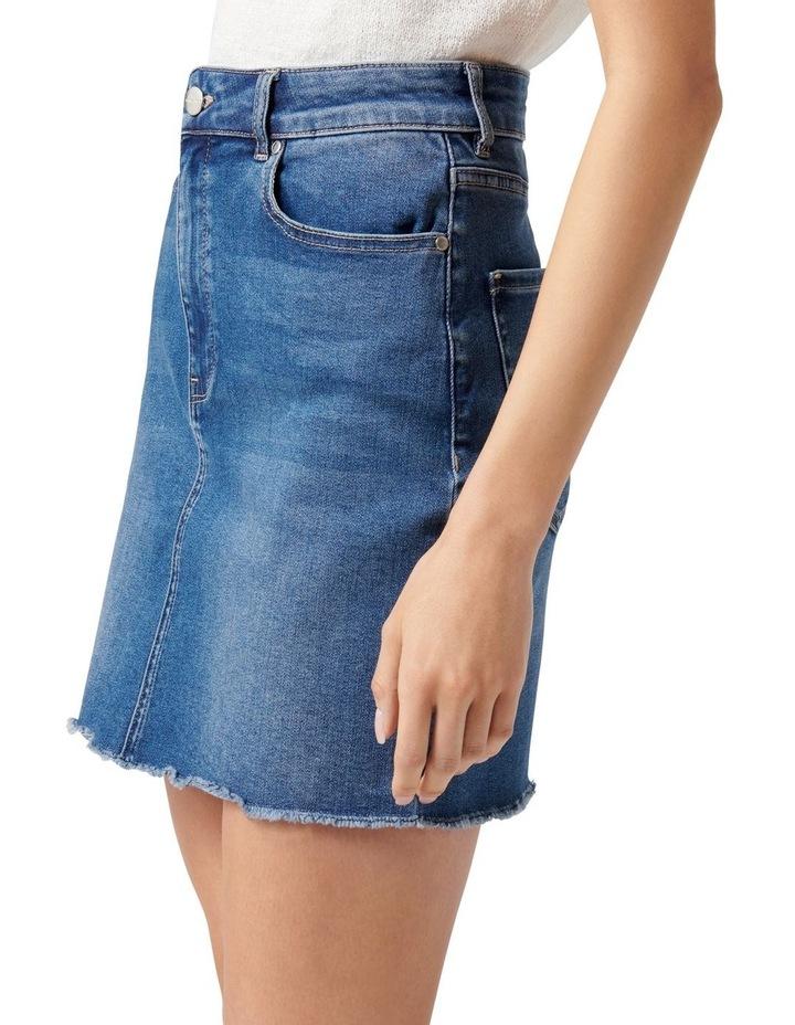 Laura Stretch Denim Mini Skirt Mid Wash image 3